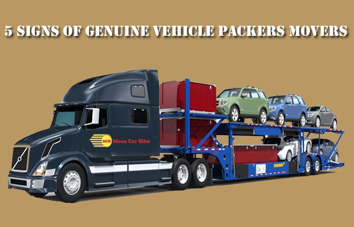 5 Signs of Genuine Vehicle Packers Movers