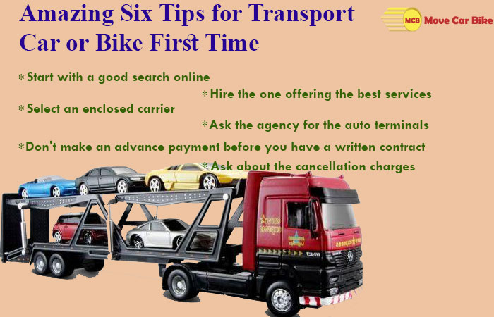 Amazing Six Tips for Transport Car or Bike First Time