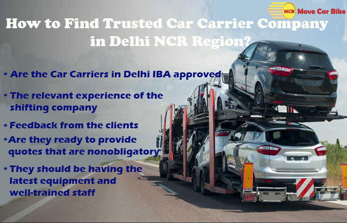 How to Find Trusted Car Carrier company in Delhi NCR Region