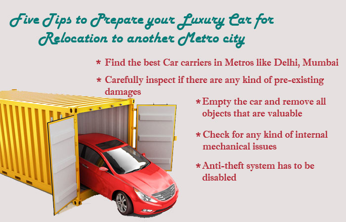 Five Tips to Prepare your Luxury Car for Relocation to another Metro city