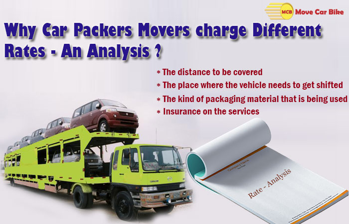 Why Car Packers Movers Charge Different Rates-An analysis